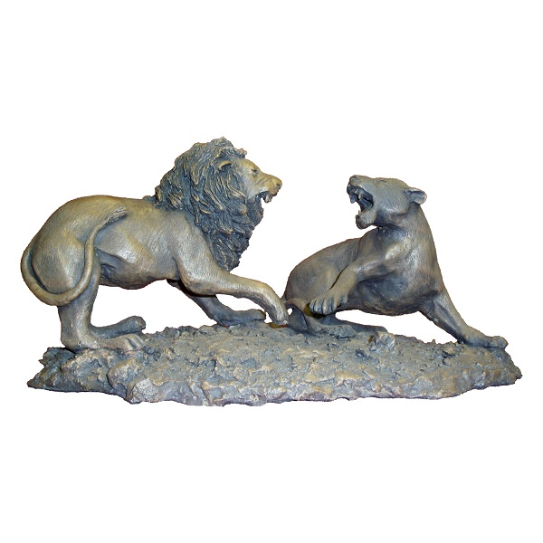 Lion and Lioness Sculpture for Sale